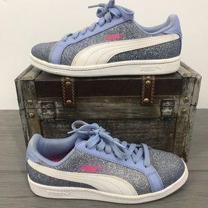 Puma kids sneakers glitter size 4 children